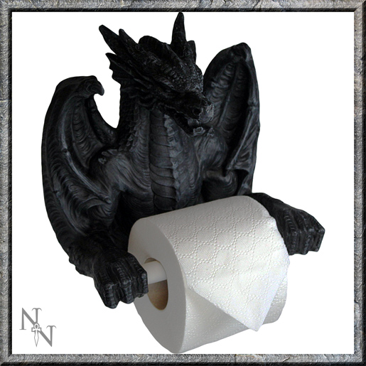 Black Dragon Toilet Roll Holder