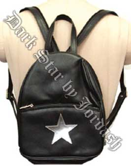 Small pvc rucksack with a star