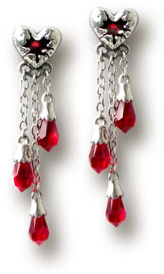 Bleeding Heart (studs; pair)