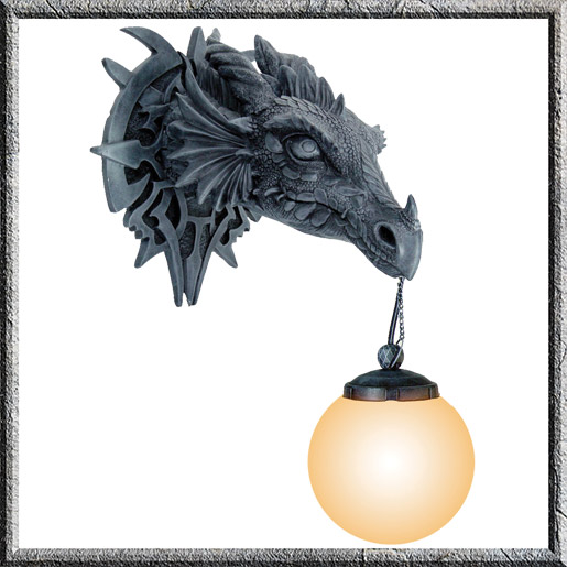 Gothic Dragon Wall Light