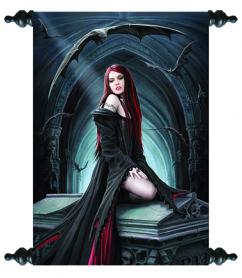 Art Scroll - Await The Night - Anne Stokes