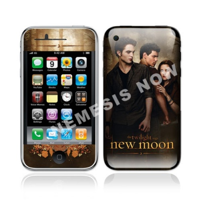 Twilight New Moon - iPhone Skin - Edward, Bella & Jacob