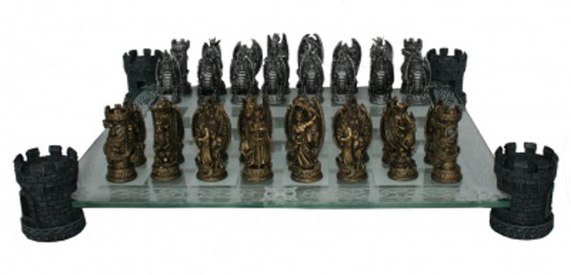 Kingdom Of The Dragon Fantasy Chess Set Nem5404