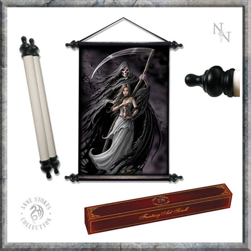 Art Scroll - Summon The Reaper - Anne Stokes