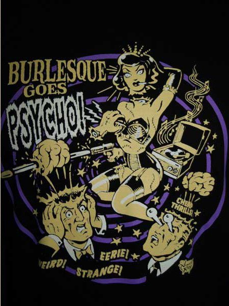 T-shirt Burlesque Goes Psycho - Vince Ray